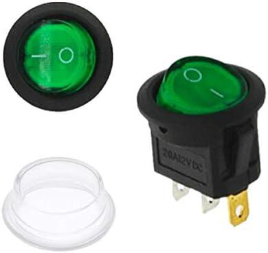 Kabel Schutzkappe Kippschalter Set, 1 St/ück Blau Kippschalter Wippschalter Rund LED ON-OFF 3 PIN 20A // 12V /Ø20mm Crimp Stecker