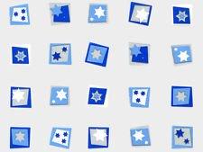 Blue White Silver Hanukkah Stars 4x2x9