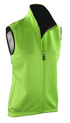 Spiro Lady ciclo Sports Full con cremallera sin mangas transpirable Flujo de Aire Chaleco/Chaleco Neon Green/ Black