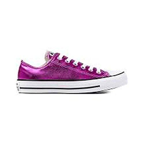 Converse Als Hi Kan Houtskool 1j793 Unisex-volwassenen Sneaker Magenta Gloed / Zwart / Wit