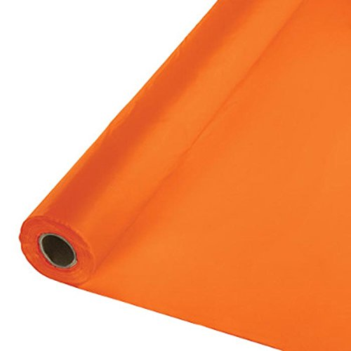 Creative Converting 013282 BANQUET ROLL 40'' X 250', One size, Sunkissed Orange