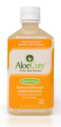 AloeCure Pure Aloe Vera Juice Acid Reflux Treatment, Natural Flavor, 1 bottle