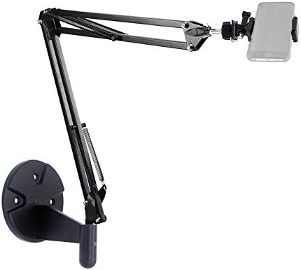 Wall Phone Mount,Overhead Camera Mount for iPhone Samsung Gopro Live Streaming,Baking,Craft,Videos,Online Lessons Acetaken