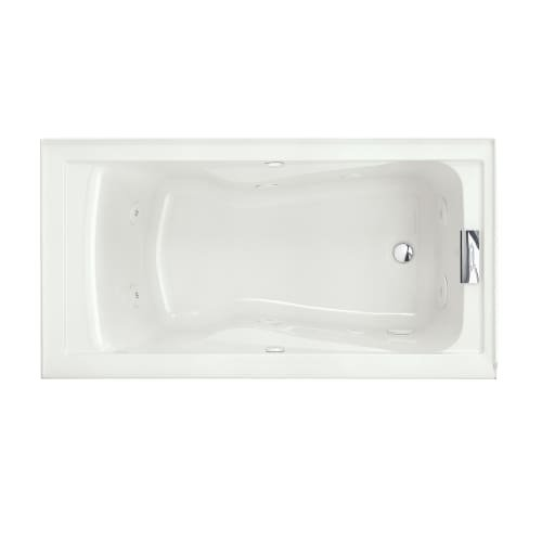 [American Standard 2425VC-RHO.020 Evolution 5-Feet by 32-Inch Right-Hand Outlet Whirlpool Bath Tub with EverClean, Hydro Massage System I and Integral Apron, White] (Hydro Systems Whirlpool Tub)
