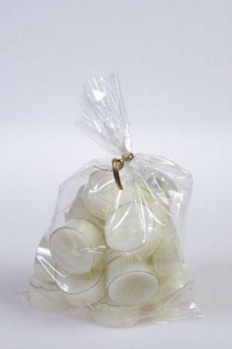 20 original Dänische Teelichter ohne Duft im Acryl-Cup farbig durchgefärbt elfenbein