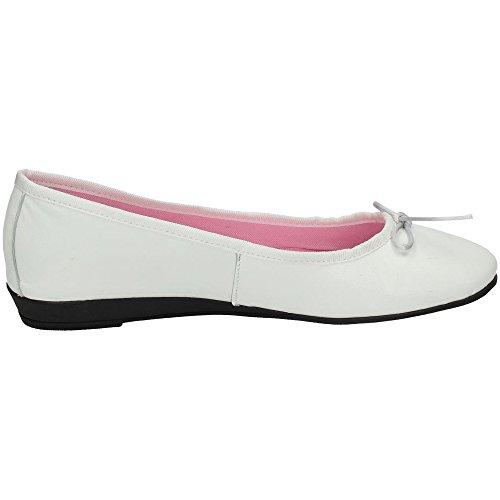 MADE IN SPAIN , Damen Ballerinas Weiß