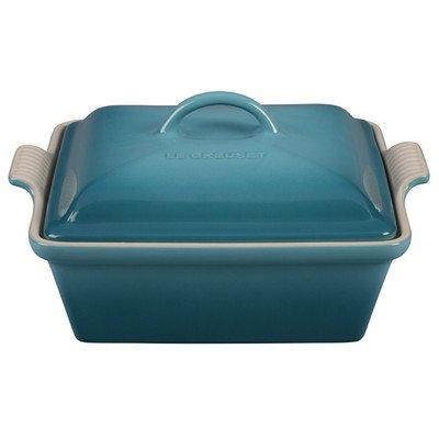 Color Casserole - Stoneware 2.5-qt. Square Casserole Color: Caribbean