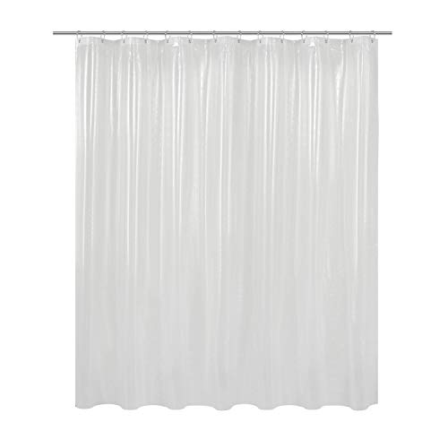 Barossa Design Clear Shower Curtain Liner 82 Width by 74 Height with Free Hooks, Waterproof, PVC Free, Metal Grommets Curtain PEVA 6G (Extra Wide Shower Curtain Liner)
