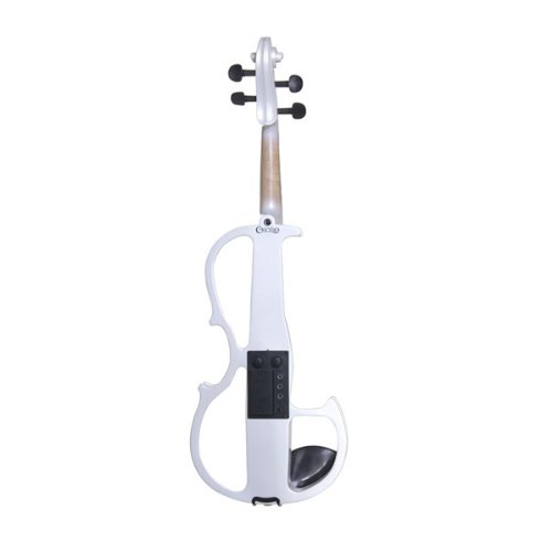 Cecilio 4/4 CEVN-2W Solid Wood Pearl White Electric / Silent Violin with Ebony Fittings in Style 2 (Full Size) by Cecilio (Image #4)
