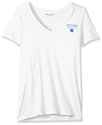 - Champion NCAA Kentucky Wildcats Women's University V-Neck Front/Back, Medium, White