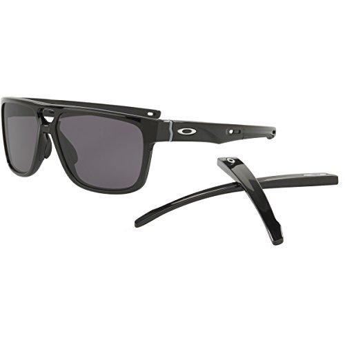 Oakley Men's Crossrange Patch Rectangular Sunglasses, Polished Black, 60 - Oakley Patch