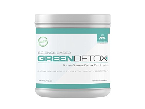 Green Detox - Superfood Drink Mix - Sugar Free, Vegan-Friendly - Over a Dozen Superfoods in Each Serving - Apple Pie Flavor by Green Detox