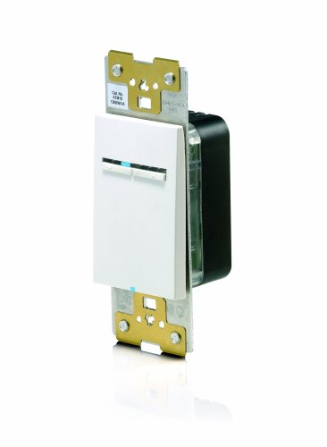 Leviton ATM10-1LW, Acenti 1000W Incandescent/1000VA Magnetic Low Voltage Dimmer, Single Pole, 3-Way or More Applications, ()