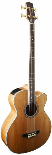 Takamine G Series GB72CE-NAT Jumbo Acoustic Electric Bass Guitar, Natural by Takamine