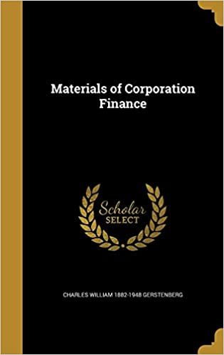 Book Materials of Corporation Finance