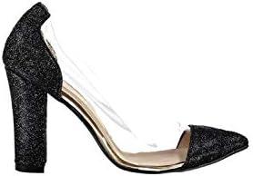 Pembe Potin Siyah Sim Kadın Klasik Topuklu Ayakkabı 37