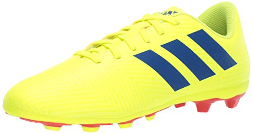 adidas Unisex Nemeziz 18.4 Firm Ground, Solar Yellow/Football Blue/Active red, 5.5 M US Big Kid