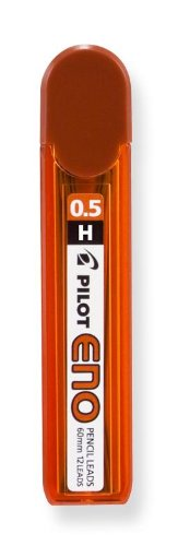 Pilot 0.5mm Mechanical Pencil Refills, H Leads, 60mm Length, 12 per Tube (60006) by Pilot