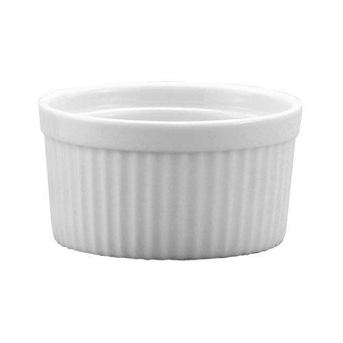 Harold Import Co. 98008 10 oz White Porcelain Deep Souffle Dish by Hi-C