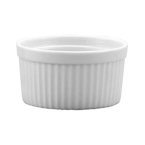 Harold Import Co. 98008 10 oz White Porcelain Deep Souffle (Hic Porcelain Souffle Dish)