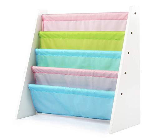 Tоt Tutоrs Premium Kids Book Rack Storage Bookshelf, White/Pastel (Pastel Collection)