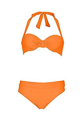 Heine - Conjunto - Opaco - para mujer naranja