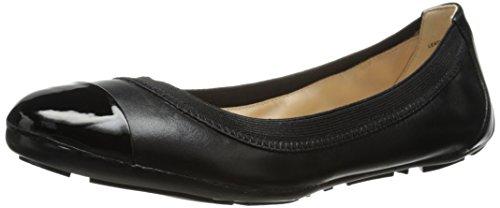 Nine West Women's Jentle Leather Flat, Black Combo, 7 M US