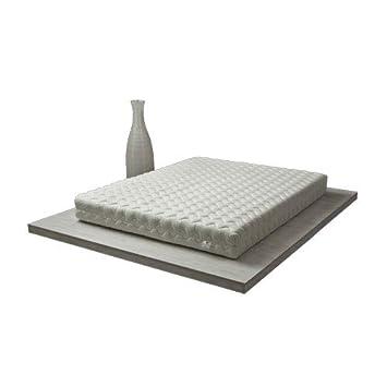 Pure Latex Wave Colchón 80 x 200 cm Serenity en 100% látex/Structure Transpirable monobloque tecnología Dunlop - 7 Zonas, Gris Claro, 80x200 cm - Médium: ...
