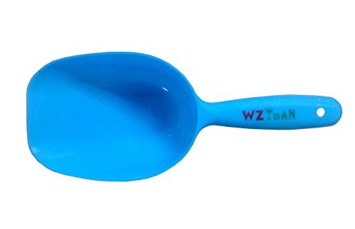 WZYuan 1-Cup Pet Food Scoop, Lines for 1/2 Cup and 1 Cup, Dog Puppy Cat Bird Rabbit Plastic Pet Food Scoop ()