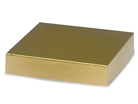 ORO 6x6 Caja tapa 100% reciclado de artšªculos de regalo TAPA Ršªgida (1 unidad, 50 paquetes por unidad): Amazon.es: Hogar