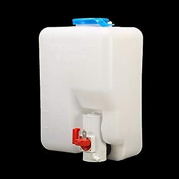 Kit de depósito de depósito de líquido para depósito de depósito de agua con bomba de lavado universal de Gallowabe: Amazon.es: Coche y moto