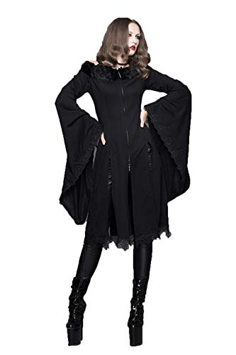 Modo Di Merletto Manicotto Sottile Del Fashion Delle Cappotto Lungo 7 Formati Il Devil Donne vxzw6p44q