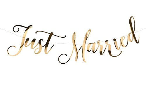 Lillian Rose SI520 BU Gold Just Married Bunting, 18