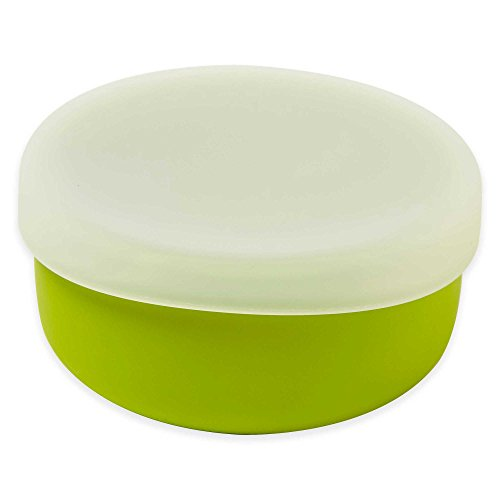 Modern Twist 4.85 oz. Silicone Bowl with Lid in Green (3 Packs) by Generic (Image #2)