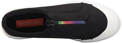 Rocket Dog Kvinna Joanel 8a Canvas Bomull / Rainbow Zip Mode Sneaker Svart