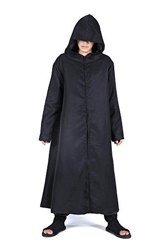 ICEMPs Cosplay Costume Hatake Kakashi Anbu Black Ops Hooded Cloak Robe (Anbu Black Ops Cosplay Costume)