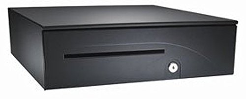 APG Cash Drawer T237A-BL1616 Series 100 Cash Drawer Adjustable Media Slot Hard-Wired for Epson TM Series and 16 Inch x 16 Inch - Color Black by APG CASH DRAWERS