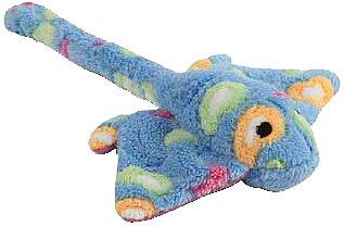 Zanies Sea Charmer Stingray Pet Toy, Blue, My Pet Supplies