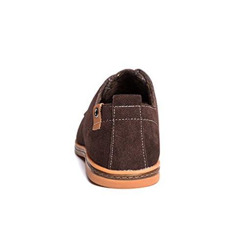 Zapatos de Oxfords Zapatillas Talla Marrón YiJee 1 Extra los Cordones Hombre Ocio q6OgSfw