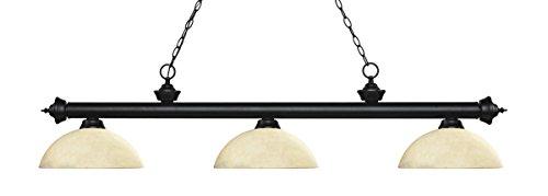 (Z-Lite 12.75 in. Billiard Light with Dome Golden Mottle Shade)