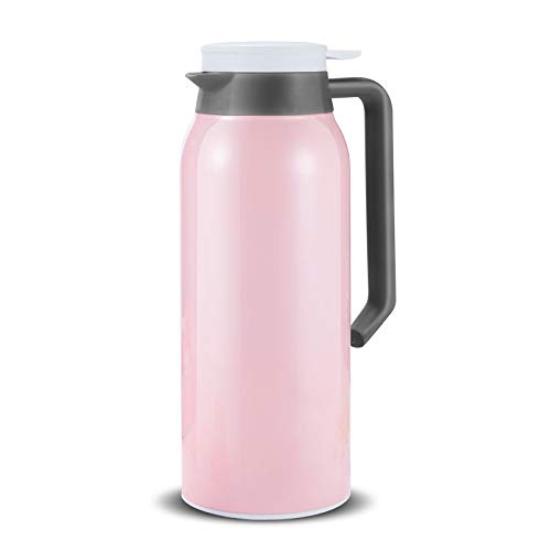 52oz 18/8 Stainless Steel Thermal Coffee Carafe/Double Wall Vacuum Insulated Thermos / 12 Hour Heat Retention / 1.5 Litre(Pink)