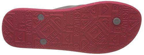 Rot de Sandalias Java Black Xrsk M Wordmark SNDL Quiksilver Grey Hombre Rojo Red Dedo YwvxfZnn1