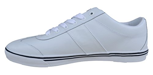Sneakers Ralph Lauren Zev Low Leather Bianco