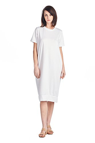 Comfortable Styles 1 Dresses White Women's Long Jersey Mid Days 82 Various 6ZSFFU