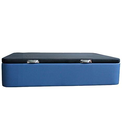 Ventadecolchones - Canapé Modelo Serena Gran Capacidad tapizado en Polipiel Azul Medidas 120 x 190 cm: Amazon.es: Juguetes y juegos