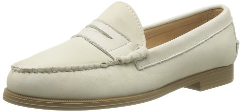 Sebago Womens PLAZA CASUAL Ivory Leather Classic Penny Lo...
