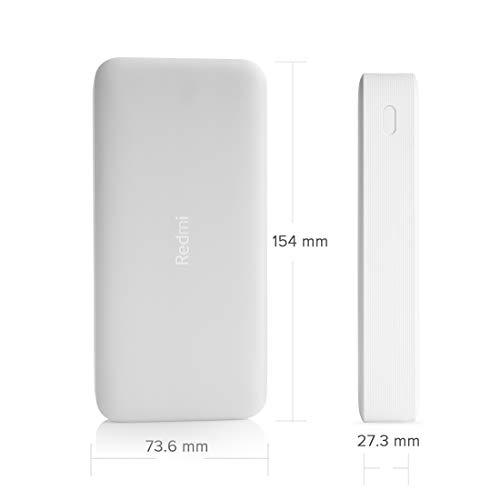 Redmi 20000mAh Li-Polymer Power Bank (White), USB Type C and Micro USB Ports | 18W Fast Charging