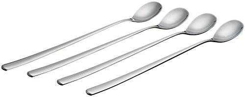 - UDTEE 4Pcs Elegant/Endurance Stainless Steel Long Handle Ice Cream/Yogurt/Desserts/Soup/Tea/Coffee/Mixing Spoons with Round Head