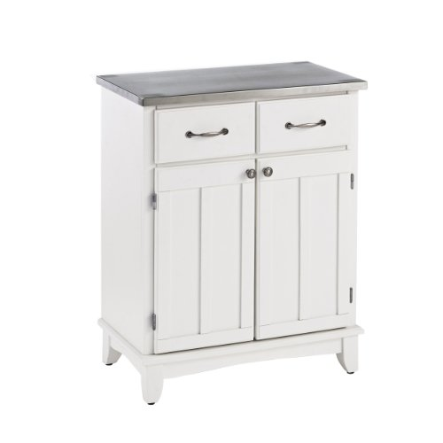 Top Buffet Sideboard Server (Home Styles 5001-0023 Buffet of Buffet 5001 Series Stainless Top Buffet Server, White, 29-1/4-Inch)