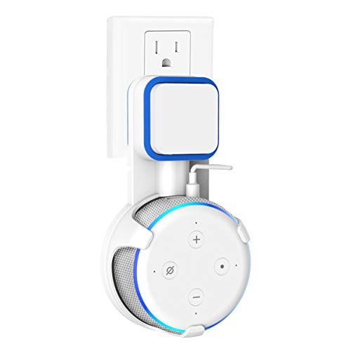SPORTLINK Outlet Wall Mount Stand Hanger for Echo Dot 3rd Generation, A Space-Saving Solution for Your Voice Assistants, Hides The Dots Cord (White)